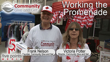 Glowing Hearts Community Give and Get Promenade Promo