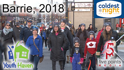 Coldest Night of the Year 2018, Barrie, Event