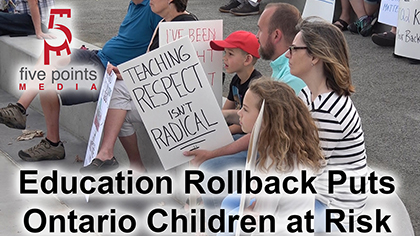 Education rollback puts Ontario children at risk