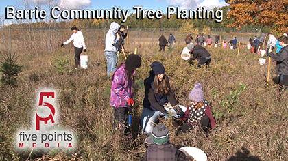 Barrie Community Tree Planting