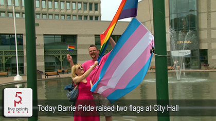 Barrie Pride - Flag Raising - Today In Barrie Report - 2019