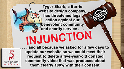 Tyger Shark Has Threatened Legal Action Against Our Benevolent Community and Charity Service