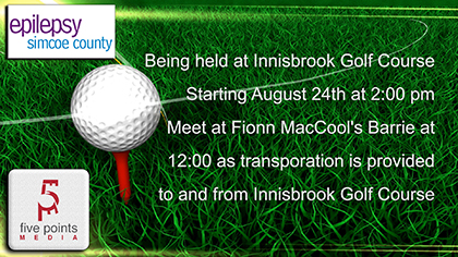 Epilepsy Simcoe County Supported by Fionn MacCool's Barrie Through Golf Tournament, 2019