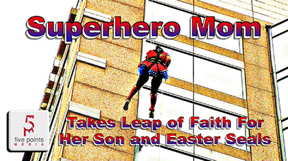 Superhero Mom Takes Leap of Faith For Her Son and Easter Seals, 2019