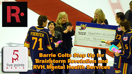 Barrie Colts Step Up for Brainstorm Revolution and RVH Mental Health Services - 2020