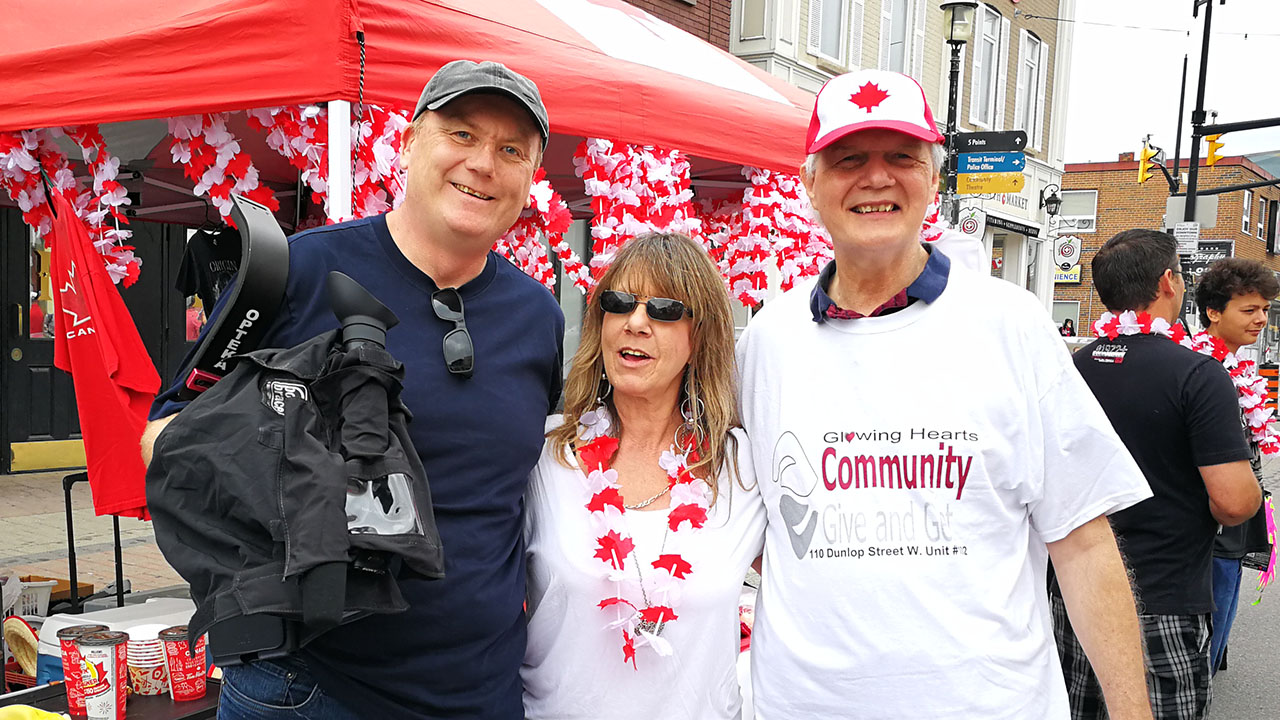 Our Producer, John, visits Victoria Potter and Frank Nelson at Promenade Days